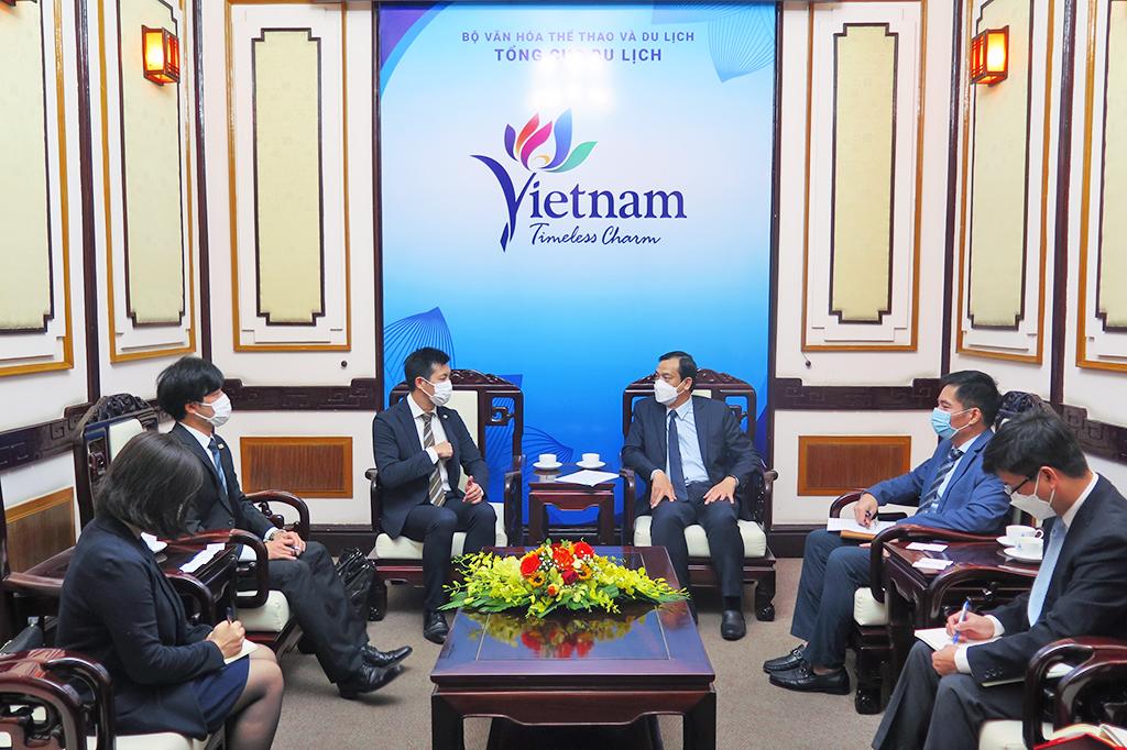 Tổng cục trưởng Nguyễn Trùng Khánh tiếp Trưởng Văn phòng đại diện Cơ quan Xúc tiến Du lịch Nhật Bản tại Việt Nam