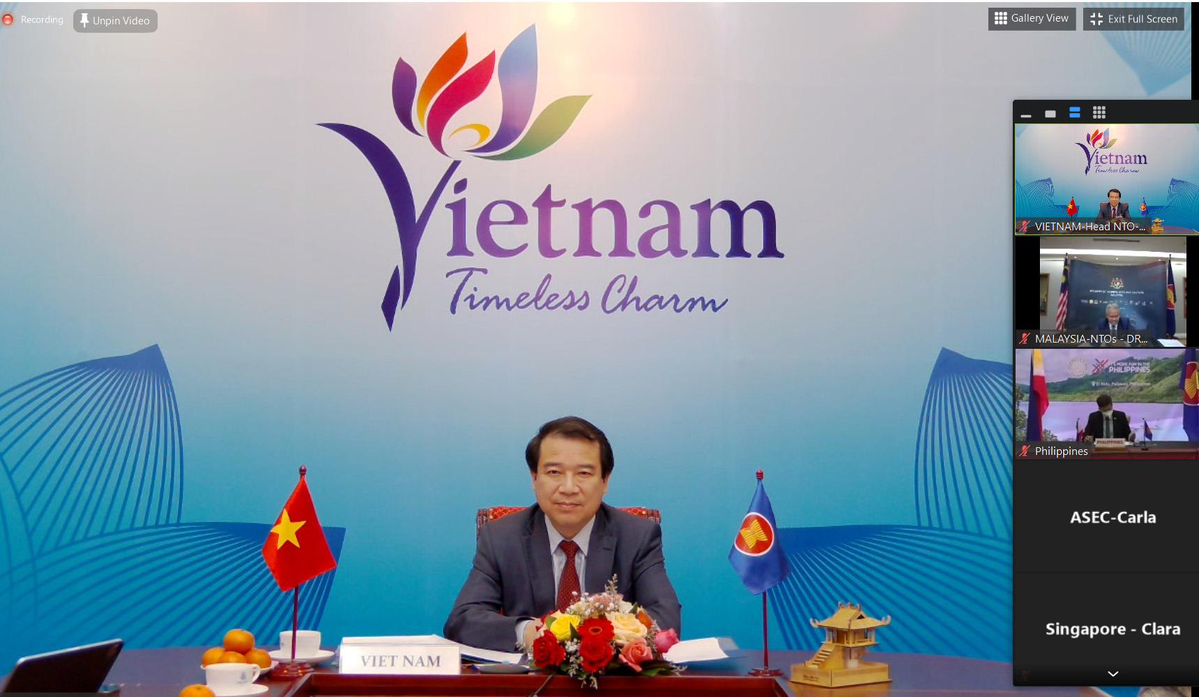 Phó Tổng cục trưởng Hà Văn Siêu dự Hội nghị trực tuyến Cơ quan du lịch quốc gia ASEAN lần thứ 53