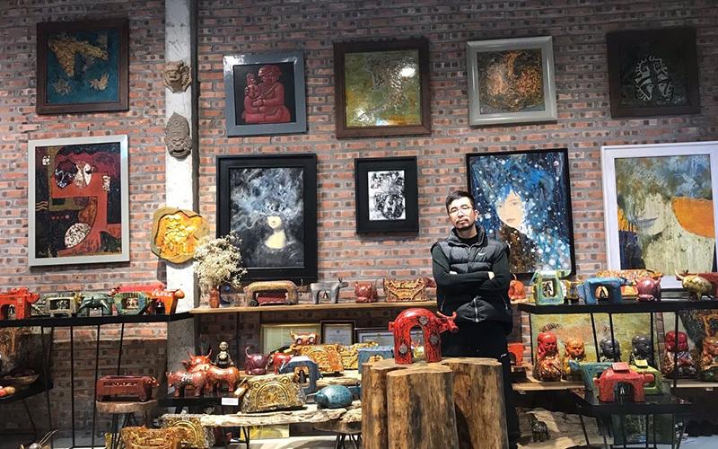 Ðàn trâu sơn mài độc đáo ở làng cổ Ðường Lâm