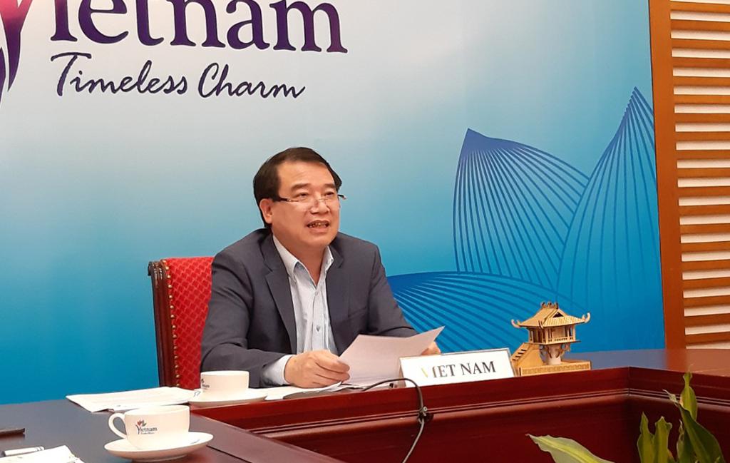 Phó Tổng cục trưởng Hà Văn Siêu tham dự Hội thảo trực tuyến về kế hoạch truyền thông phục hồi du lịch Tiểu vùng Mekong mở rộng (GMS)