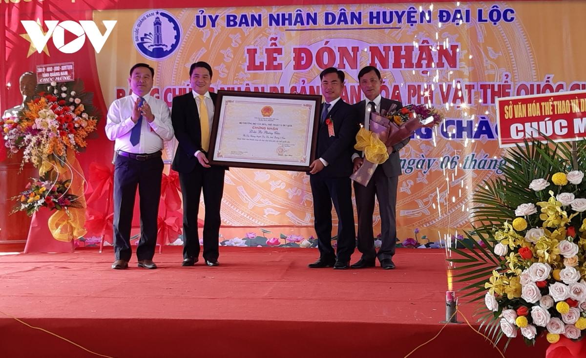 Lễ hội Bà Phường Chào (Quảng Nam) đón Bằng chứng nhận Di sản văn hóa phi vật thể quốc gia