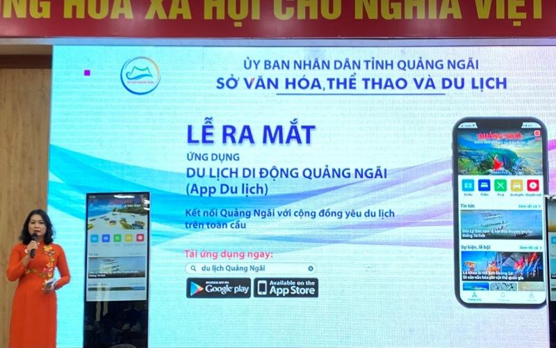 Ra mắt ứng dụng du lịch di động Quảng Ngãi
