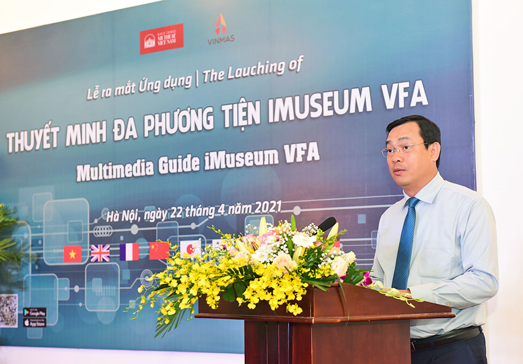 Tổng cục trưởng Nguyễn Trùng Khánh: Ứng dụng iMuseum VFA của Bảo tàng Mỹ thuật Việt Nam sẽ giúp gia tăng trải nghiệm, hỗ trợ tiện lợi cho du khách