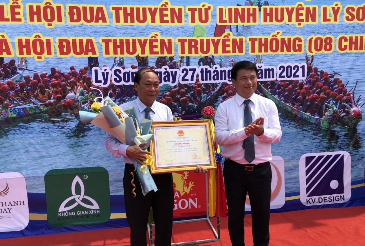 Công nhận Di sản văn hóa phi vật thể quốc gia Lễ hội đua thuyền Tứ linh