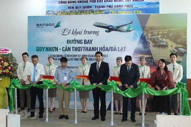 Khai trương 3 đường bay từ Quy Nhơn đi Cần Thơ, Thanh Hóa, Đà Lạt