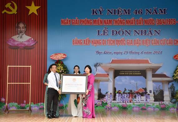 Bạc Liêu: Căn cứ Cái Chanh đón nhận Bằng Di tích Quốc gia đặc biệt