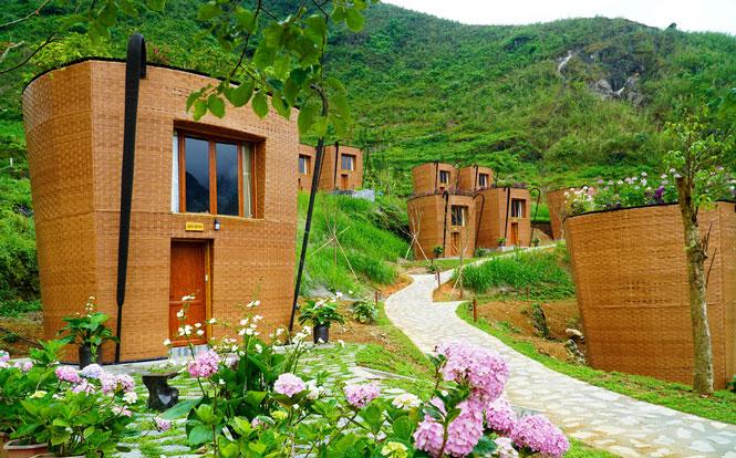 Độc đáo khu nghỉ dưỡng hình quẩy tấu ở Hà Giang