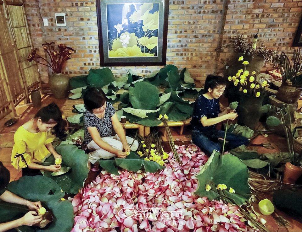 Nghệ thuật ướp trà sen xứ Huế