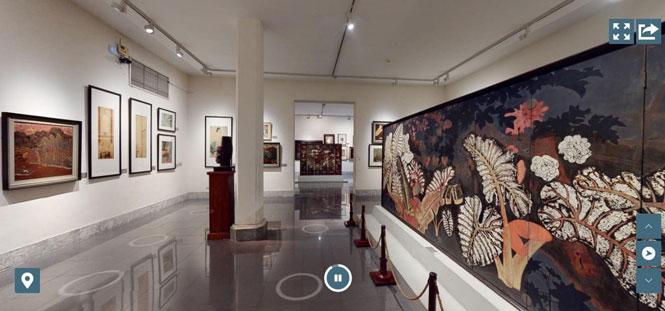 Thưởng lãm trực tuyến tác phẩm của nghệ sĩ Bảo tàng Mỹ thuật Việt Nam