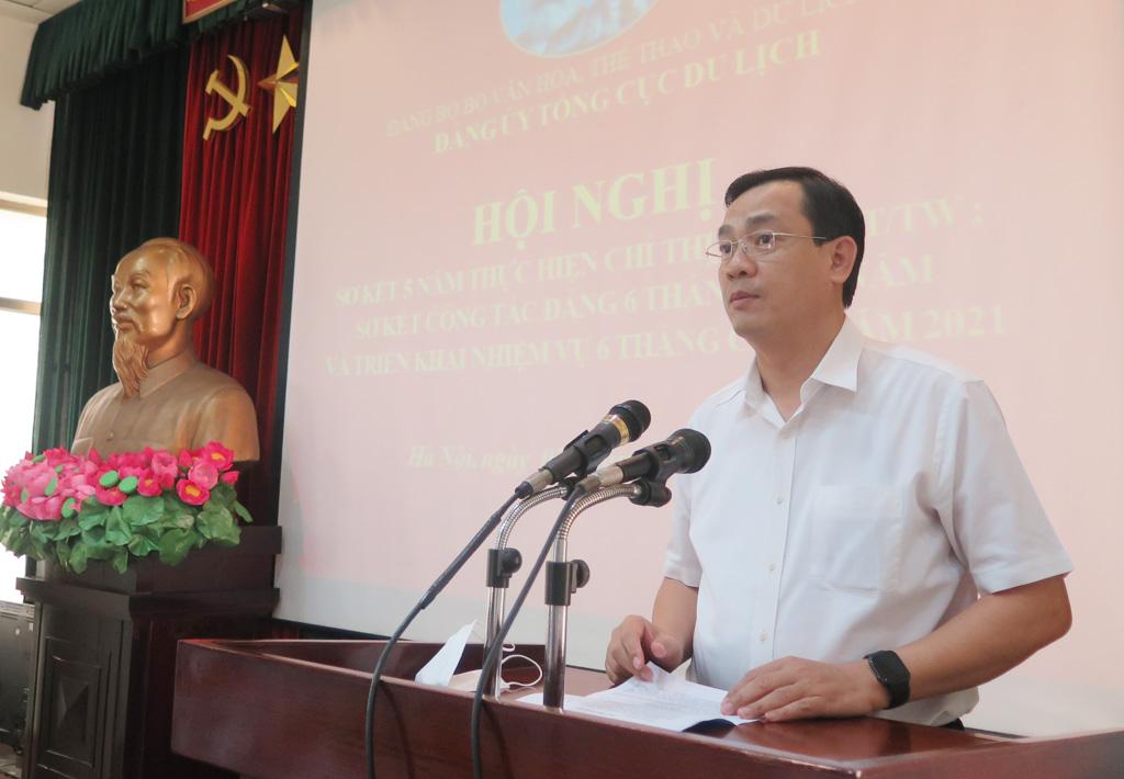 Đảng ủy Tổng cục Du lịch tổ chức Hội nghị sơ kết 5 năm thực hiện Chỉ thị số 05-CT/TW và sơ kết công tác Đảng 6 tháng đầu năm