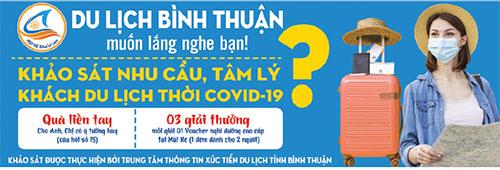 Bình Thuận: Khảo sát nhu cầu và tâm lý du khách thời Covid-19