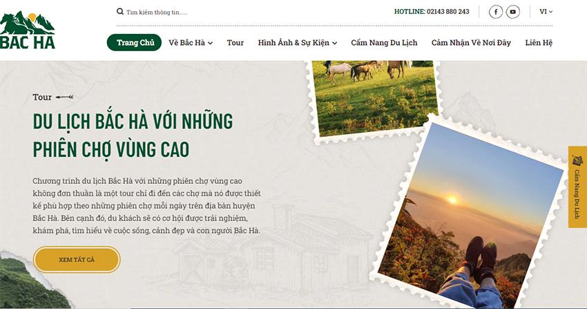 Lào Cai: Xây dựng trang web quảng bá du lịch Bắc Hà