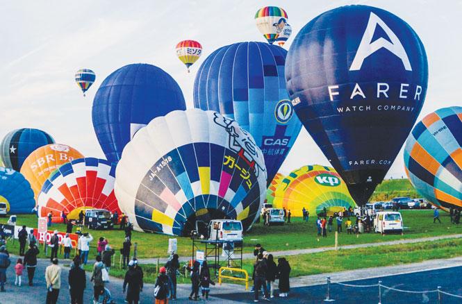 Độc đáo lễ hội khinh khí cầu ở xứ Phù Tang
