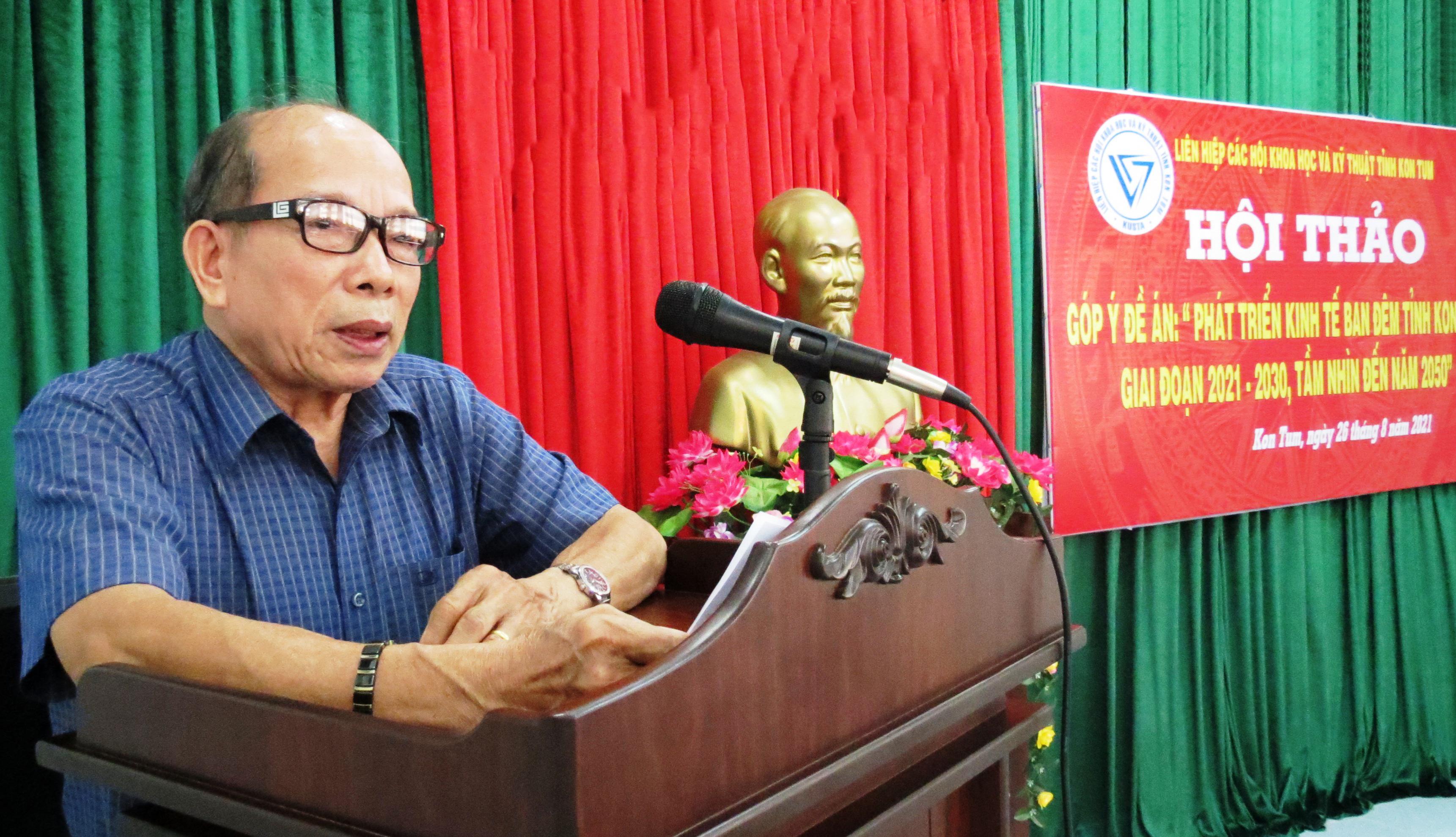 """Hội thảo góp ý Đề án """"Phát triển kinh tế ban đêm tỉnh Kon Tum"""""""