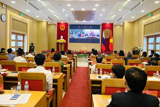 Hội thảo trực tuyến xúc tiến hợp tác giữa Khánh Hòa và Saint-Petersburg
