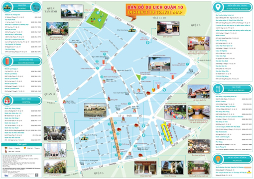 Giới thiệu bản đồ du lịch quận 10 (TP. Hồ Chí Minh)