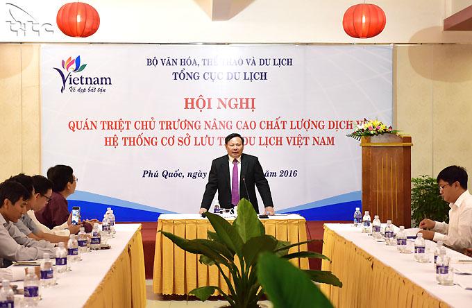 Hội nghị quán triệt chủ trương nâng cao chất lượng dịch vụ hệ thống cơ sở lưu trú du lịch Việt Nam tại Kiên Giang