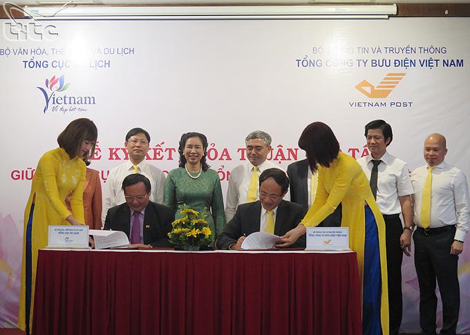 Tổng cục Du lịch ký kết hợp tác với Tổng Công ty Bưu điện Việt Nam
