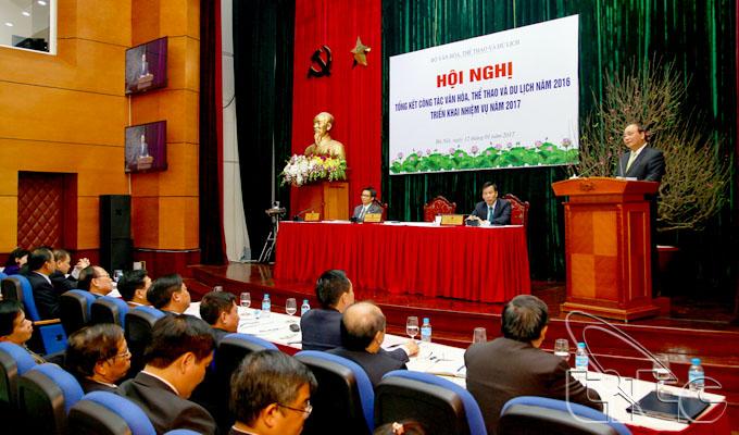 Thủ tướng Nguyễn Xuân Phúc dự hội nghị tổng kết công tác văn hóa, thể thao và du lịch năm 2016