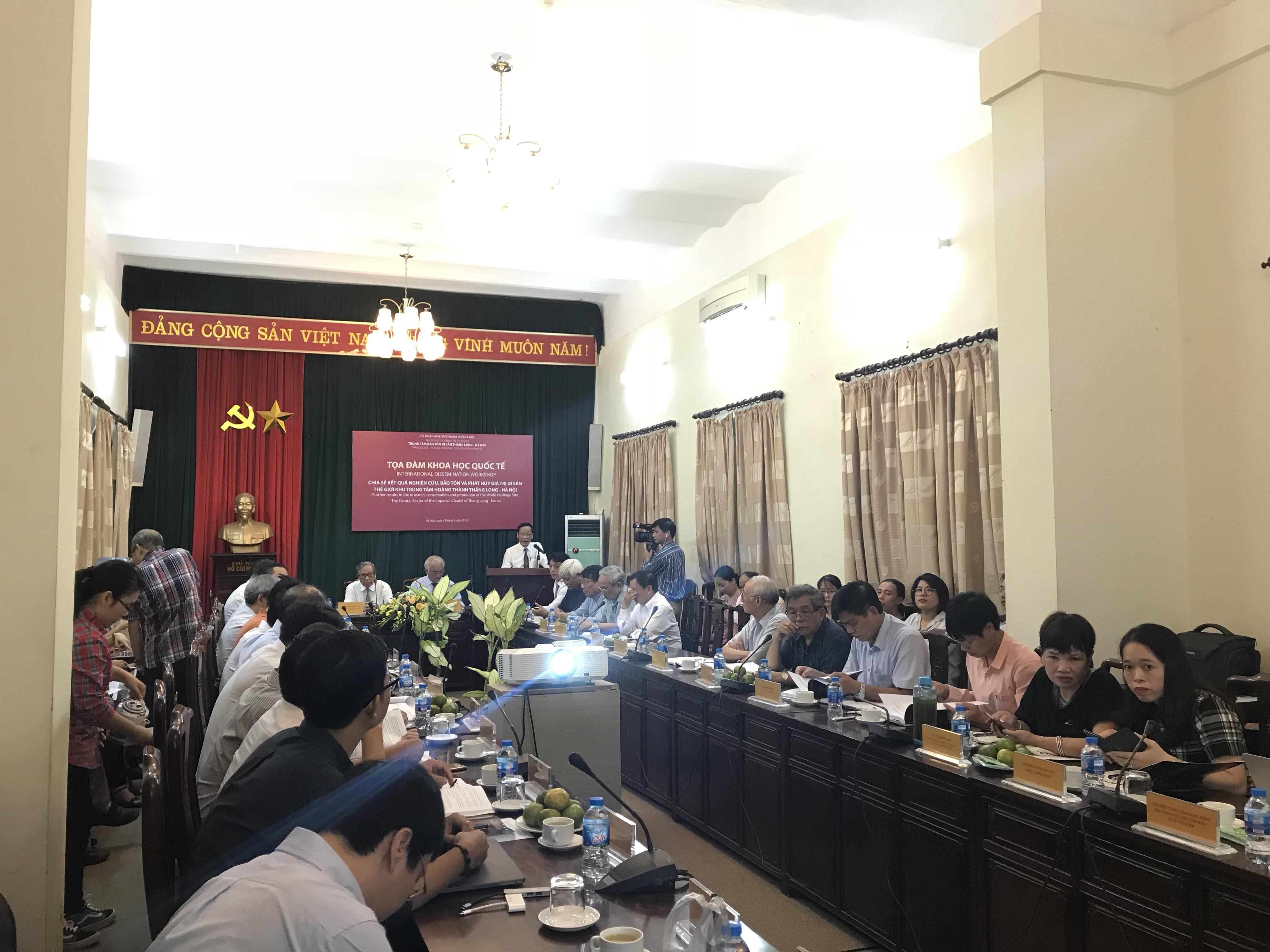 Chia sẻ kết quả nghiên cứu, bảo tồn và phát huy giá trị Di sản Hoàng thành Thăng Long