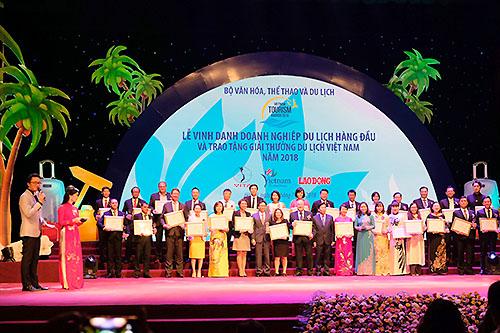 Lễ vinh danh các doanh nghiệp du lịch hàng đầu Việt Nam năm 2018