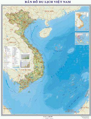 Bản đồ Du lịch Việt Nam treo tường
